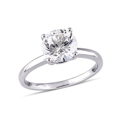 Miabella 2-3/8 Carat T.W. Created White Sapphire 10kt White Gold Solitaire Engagement Ring