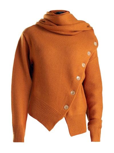 Asymmetrical Cashmere Blend Sweater