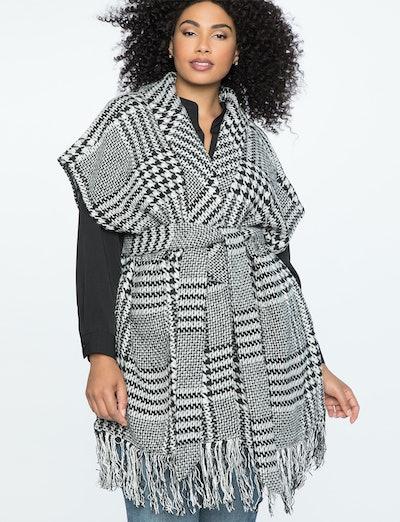 Houndstooth Blanket Coat
