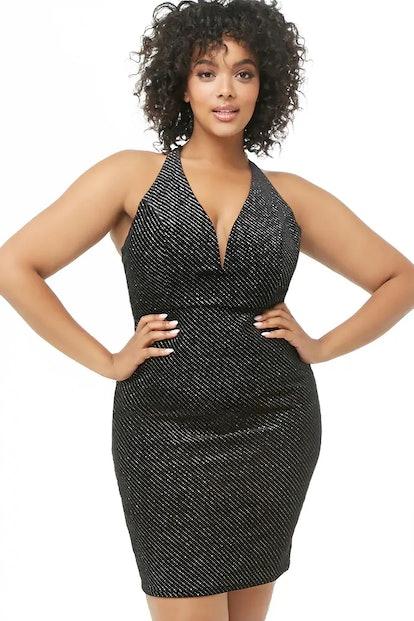 Plus Size Glittered Bodycon Dress