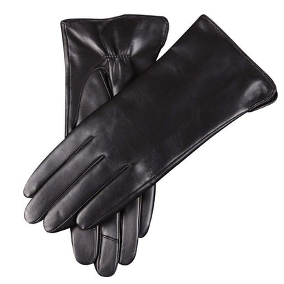 Warmen Women's Touchscreen Leather Gloves