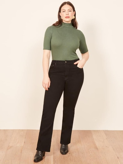 Extended Sizes Candice High Bootcut Jean in Black