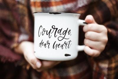 Courage, Dear Heart Narnia Mug