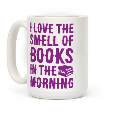 I Love the Smell of Books and Coffee in the Morning Mug