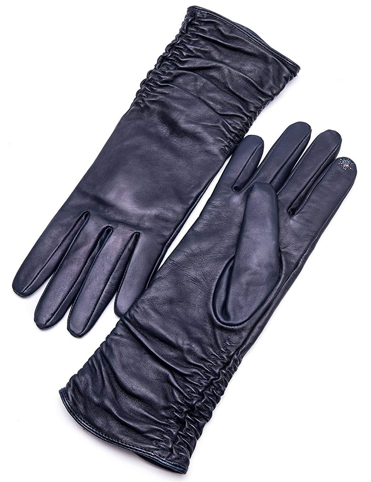 Yiseven Women's Mid-Length Leather Gloves