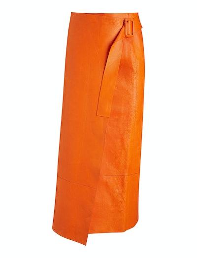 Ronley Bonded Leather Skirt