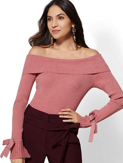 7th Avenue Off-The-Shoulder Sweater