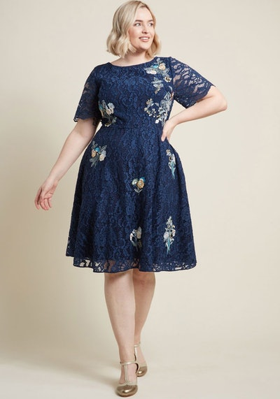 Always Lovely Lace A-Line Dress
