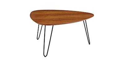 "32"" Hairpin Leg Wood Coffee Table - Walnut - Saracina Home"