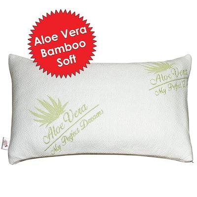 Bamboo Aloe Vera Shredded Memory Foam Pillow