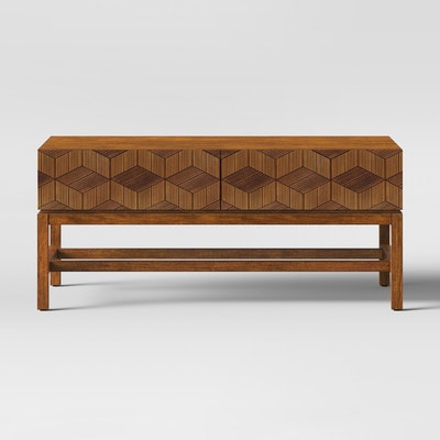 Tachuri Geometric Front Coffee Table Brown - Opalhouse™