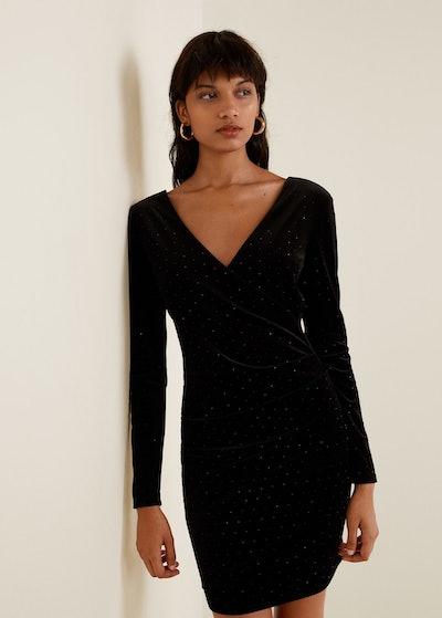 Beaded Velvet Dress