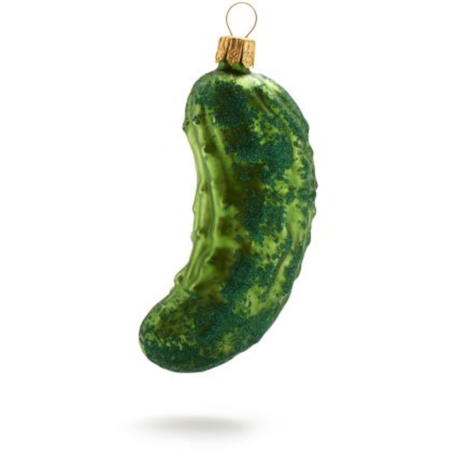 pickle glass ornament