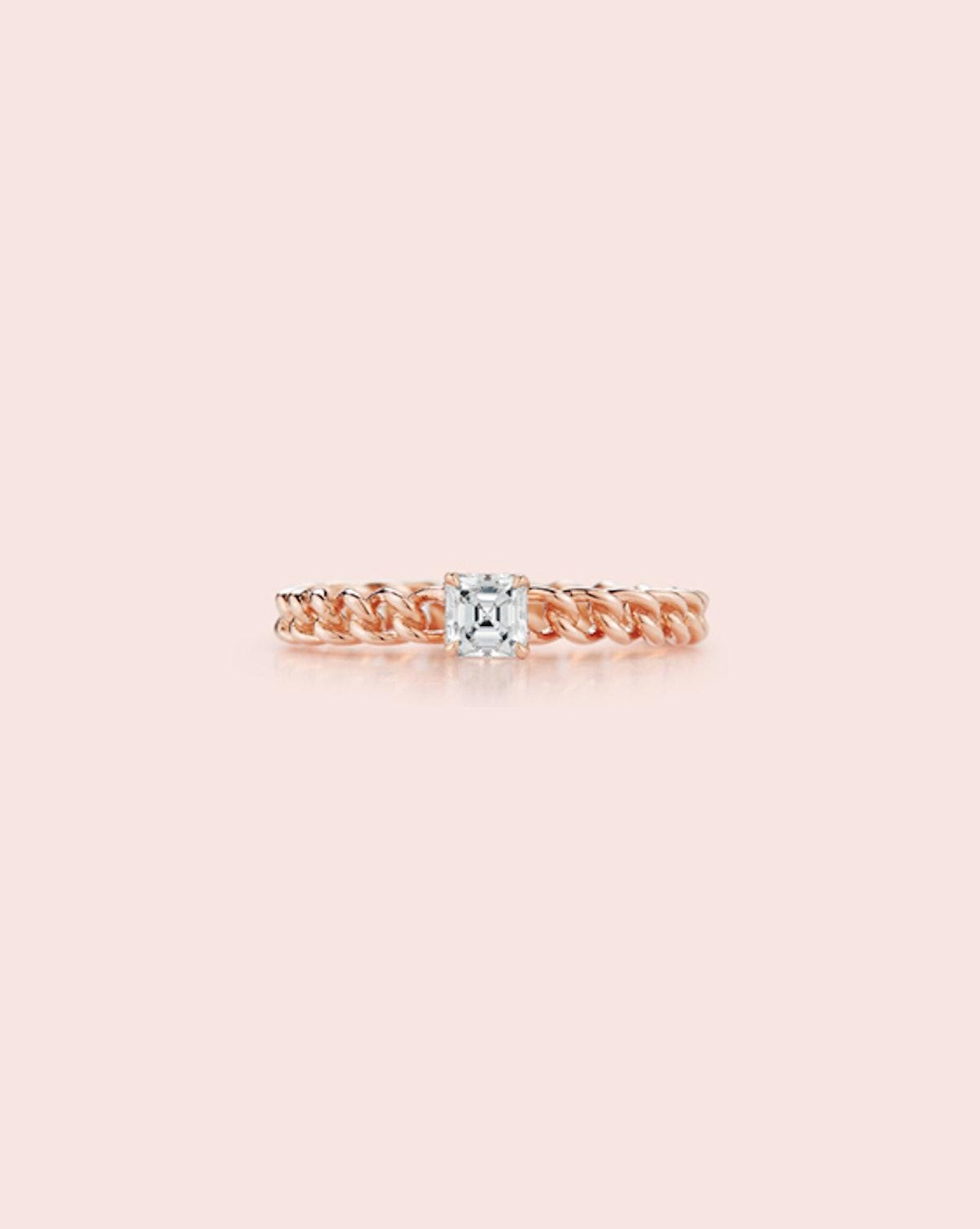 Toujours Asscher Cut Diamond Ring