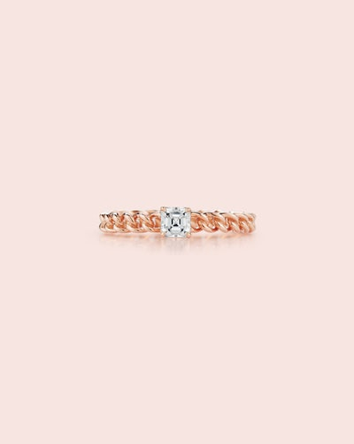 Toujours Asscher Cut Diamond Ring