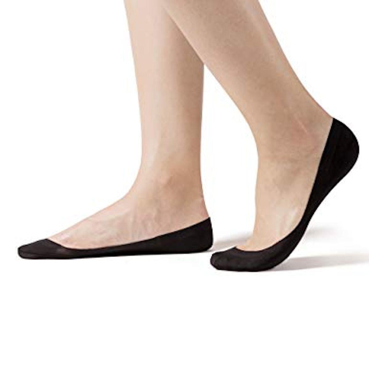 SHECC SoleHugger Secret No Show Women's Sock, 4 Pack