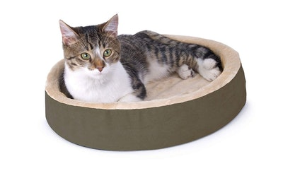"""K&H Pet Products Thermo-Kitty Cuddle Up 16"""" Heated Cat Bed"""