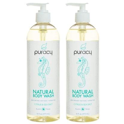 Puracy Natural Body Wash, 2 Pack