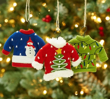 Ugly Sweater Ornaments — Set Of 3
