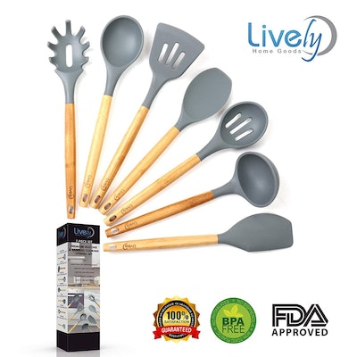 Lively Home Goods Kitchen Utensil Set (7 Pieces)