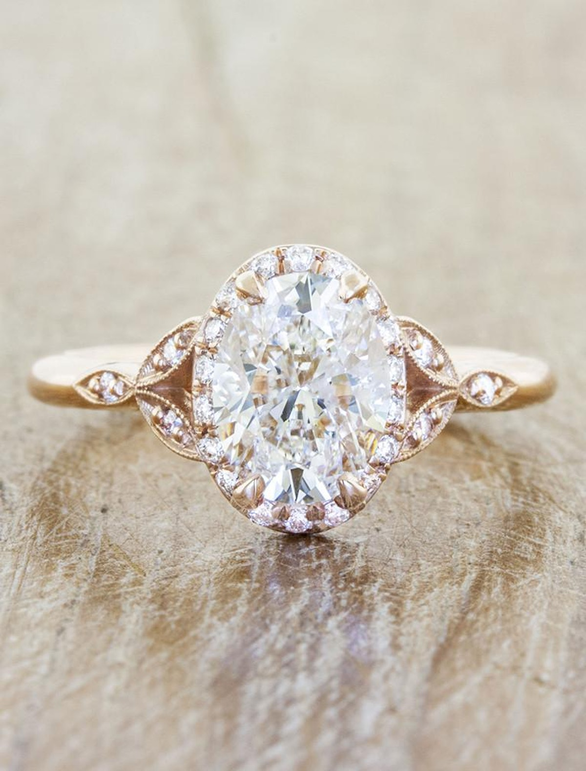 Rachael Vintage-Inspired Halo Engagement Ring
