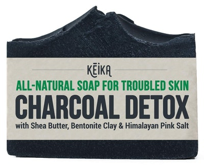 KEIKA Naturals Charcoal Soap Bar