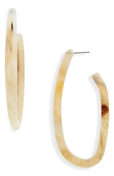 Rachel Comey Maya Hoop Earrings in Pale Marble