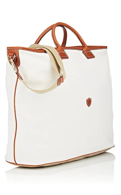 Felisi Leather-Trimmed Canvas Weekender Bag