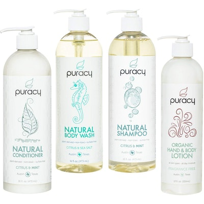 Puracy Organic Hair & Skin Care Set (4 Pack)