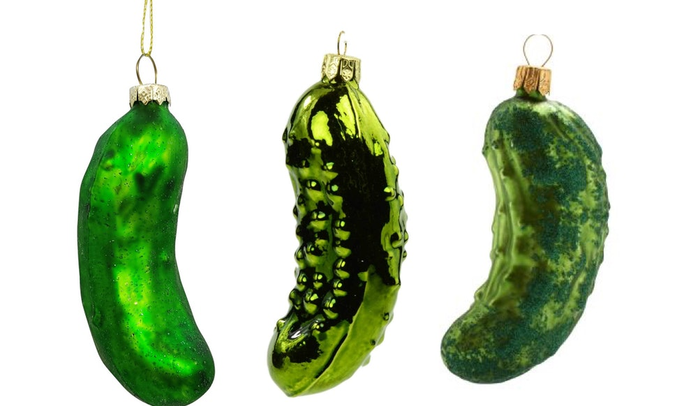christmas pickle or weihnachtsgurke is the adorable fermented holiday tradition you need to know about this year