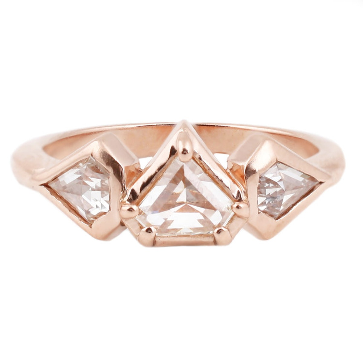 Rose Gold Demi Prism Ring