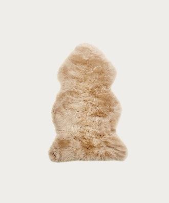 Single Sheepskin in Dark Linen
