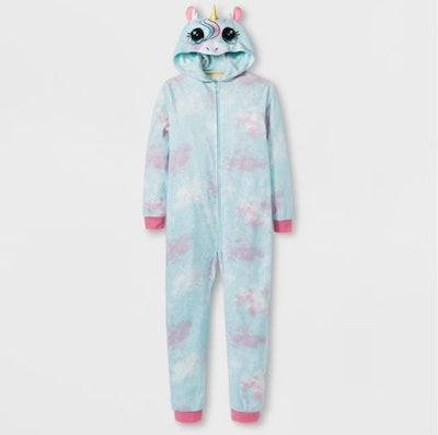 Girls' Unicorn Graphic Hooded Blanket Sleeper