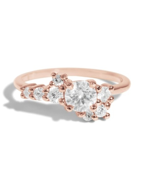 3eb0bea78 32 Rose Gold Engagement Rings For Every Bridal Style