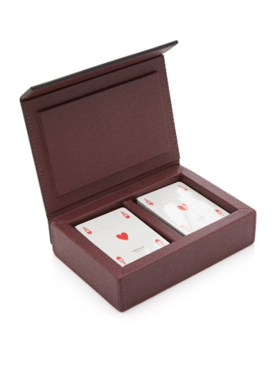 Parma Leather Playing Card Box