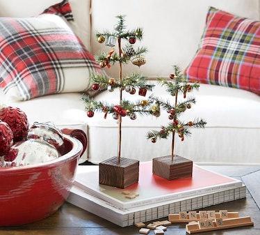 Small Nostalgic Ornament Pine Trees