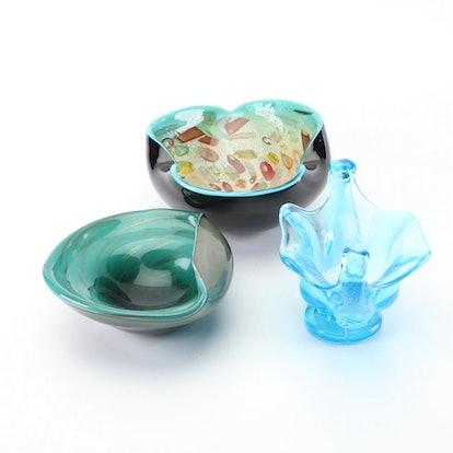 Murano Style Art Glass Bowls