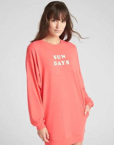 Graphic Sweatshirt Dress