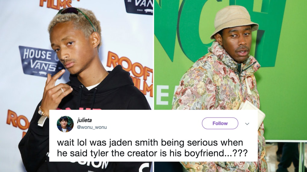 355584db1f50d1 Are Jaden Smith   Tyler The Creator Dating  Twitter Is So Confused Over  Their Recent Tweets