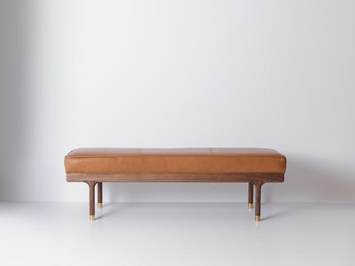 Simple Bench in Black Walnut