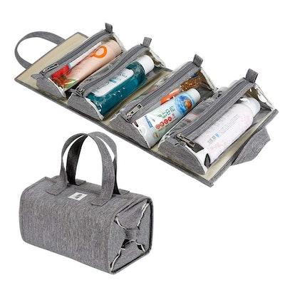 4kits Roll-Up Makeup Bag