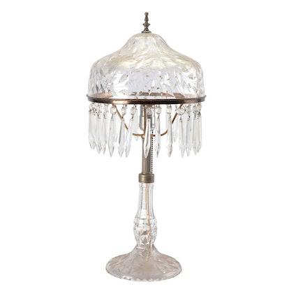 Antique Cut Crystal Lamp