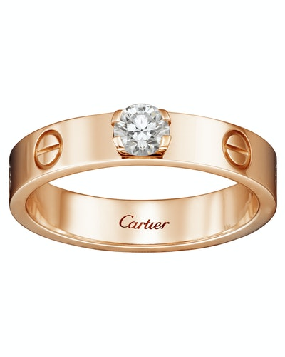 Love Solitaire Ring