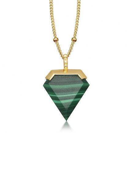 Malachite Shield Necklace