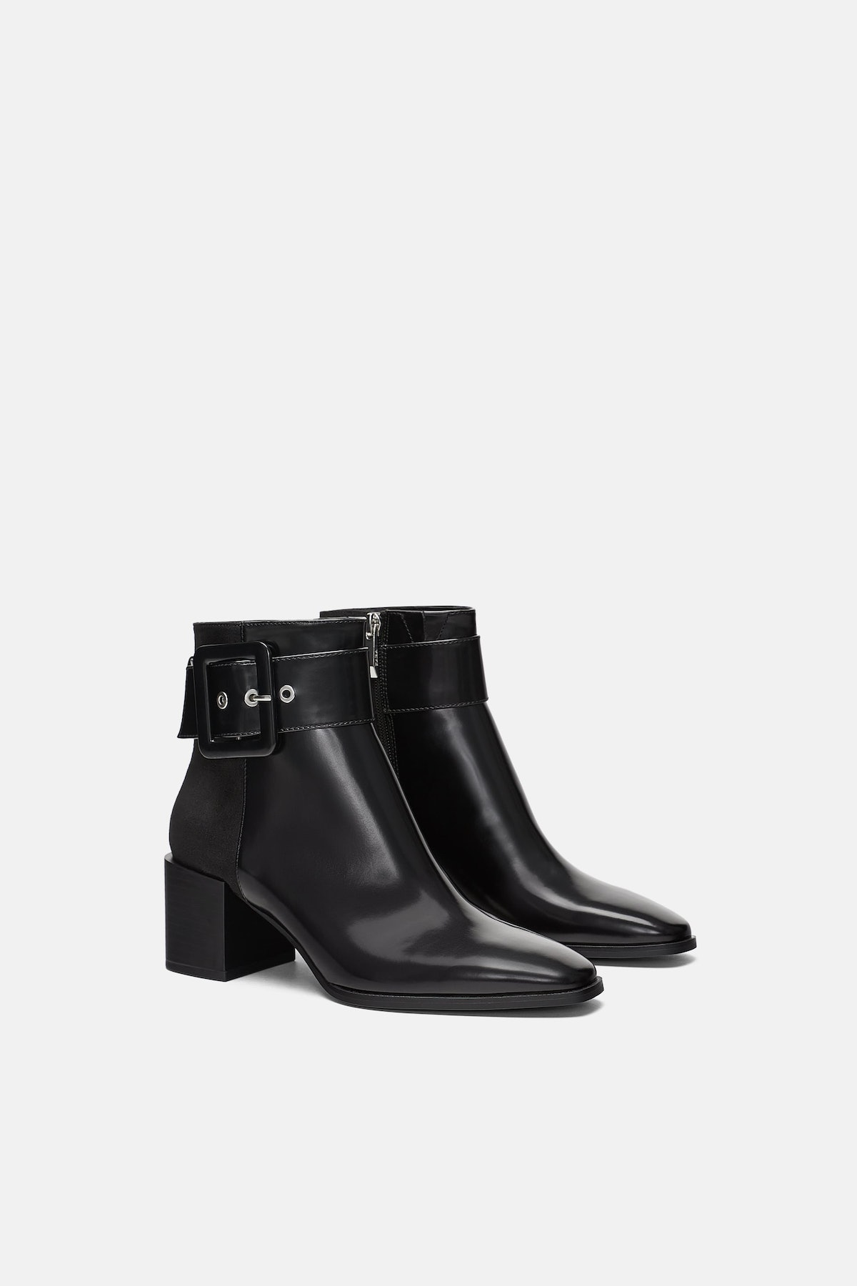 Heeled Ankle Boots With Buckle