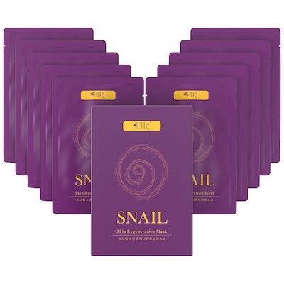 LA PURE Snail Skin Regeneration Mask (10 Pack)