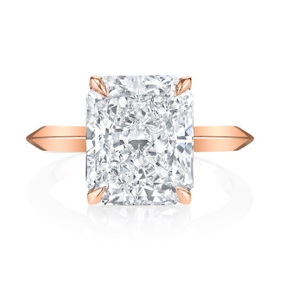 Radiant Cut Rose Gold Engagement Ring