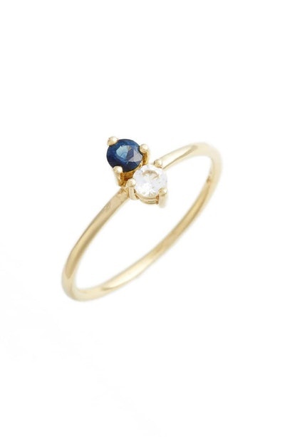 Bony Levy Birthstone Stacking Ring in September/Sapphire