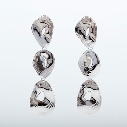 Rhodium Drop Earrings