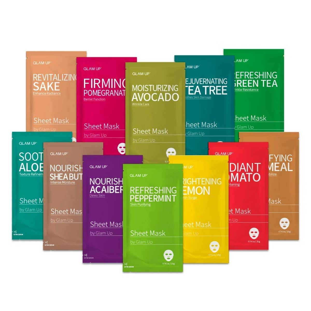 Glam Up Facial Sheet Mask Collection